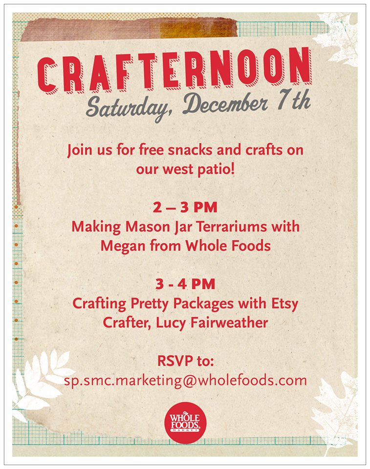 Etsy + Wholefoods presents: A Crafternoon with Fair Ivy founder Lucy Fairweather