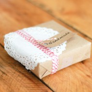 Cute gift wrapping for handmade gift