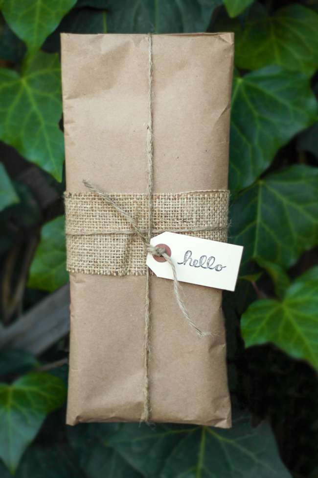 Organic handmade packaging