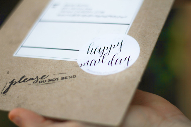 Cute handmade shipping package