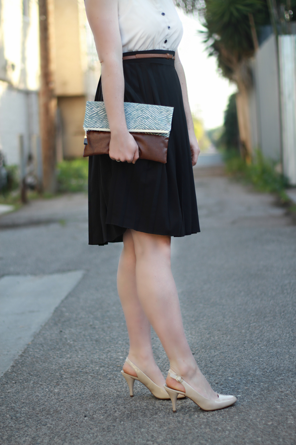 Vegan Faux Leather Handmade Clutch