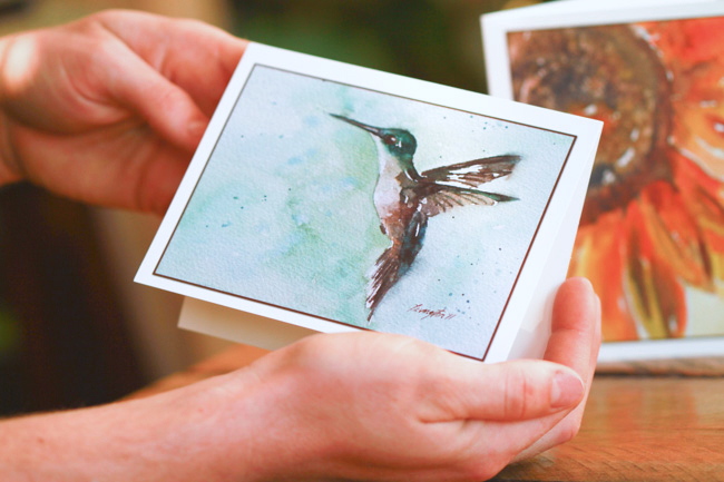 Watercolor Hummingbird Stationery