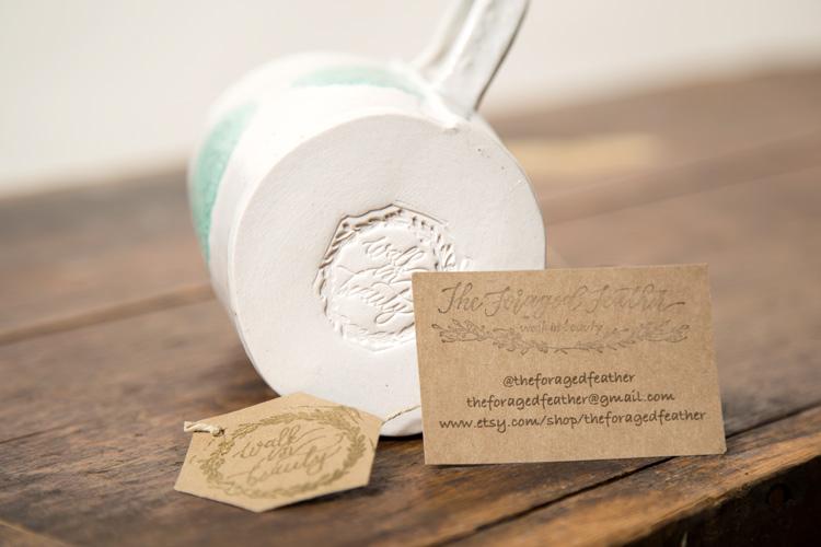 stamped ceramic mug