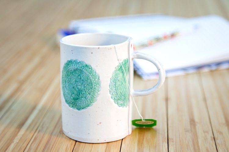 Stamped Ceramic Mug {The Thyme Subscription}