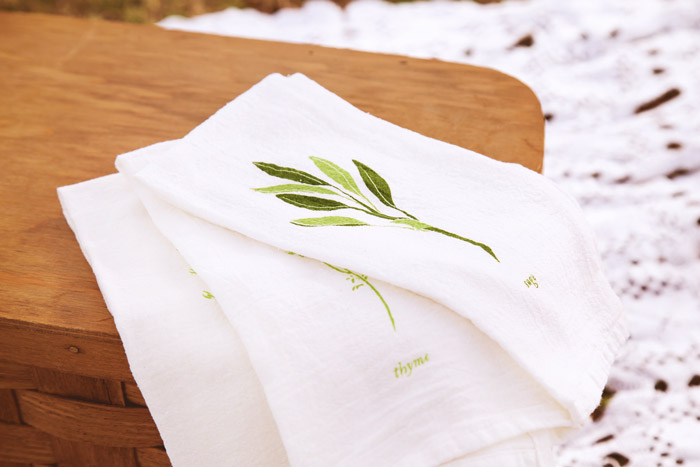 Herb garden cloth napkins {The Thyme subscription}