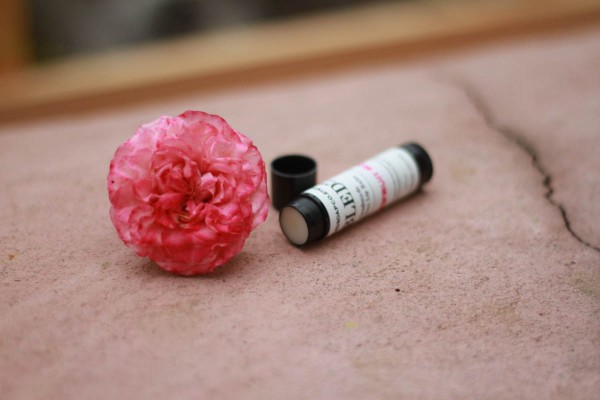 handmade passionfruit rose lip balm - Fair Ivy Monthly subscription gifts
