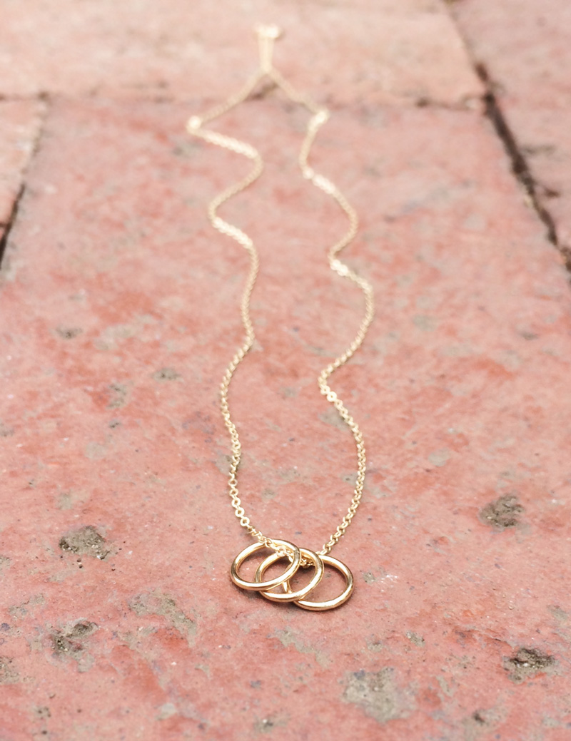 Unique Subscription Boxes: This one sends out handmade jewelry and luxury goods every month, like this gold rings necklace!