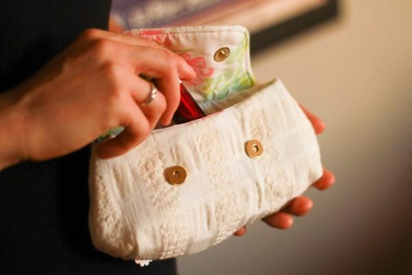 Vintage chic purse - handmade gift