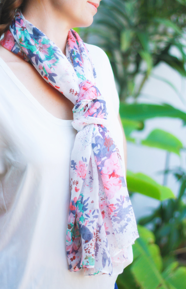 Handmade Floral Scarf