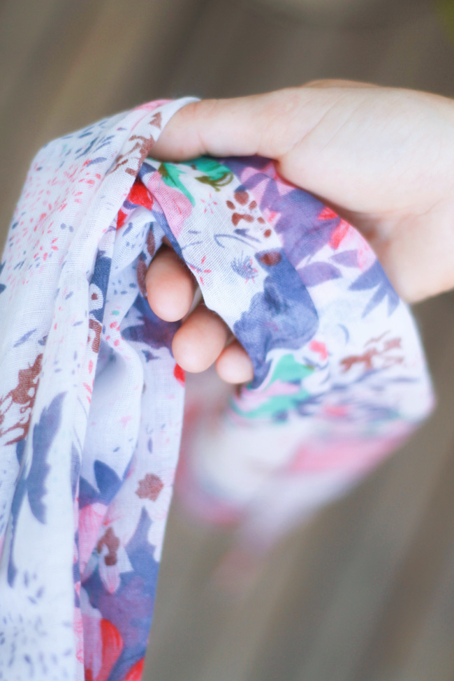 Handmade Summer Scarf Print - one of Fair Ivy's monthly gifts they mail out!