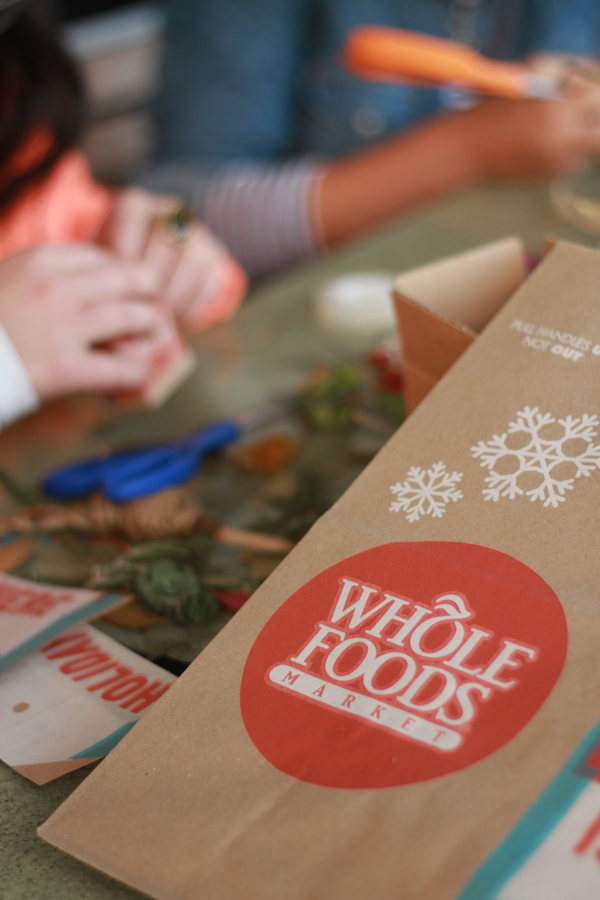 Whole foods bags as organic gift wrapping paper