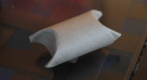 Inexpensive Holiday Gift Wrap Toilet Paper Roll Pillow