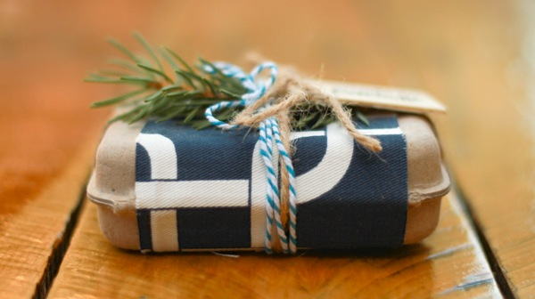 Cute gift wrapping - organic gift wrap from fairivy.com