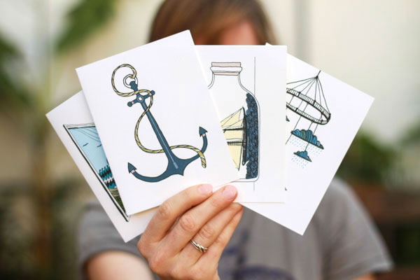 Handmade ocean stationery set from Fair Ivy