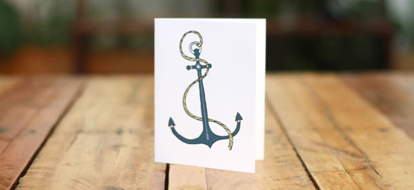 Anchor stationery card - surprsie gift from fair ivy