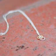 Handmade silver and gold rings necklace - just one of the monthly surprise gifts from Fair Ivy