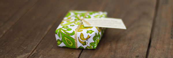 Unique gift wrap from fair ivy