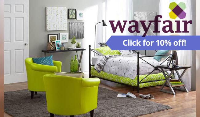 Wayfair Promo code link for a 10% Wayfair discount