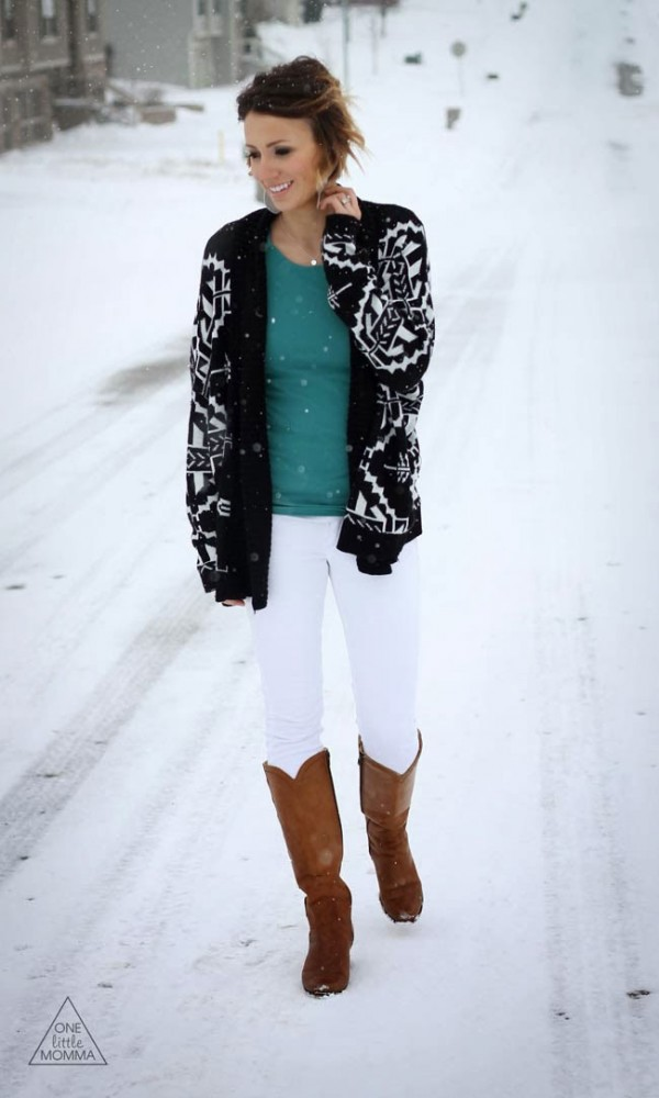 aztec-cardigan-white-denim-green-tee