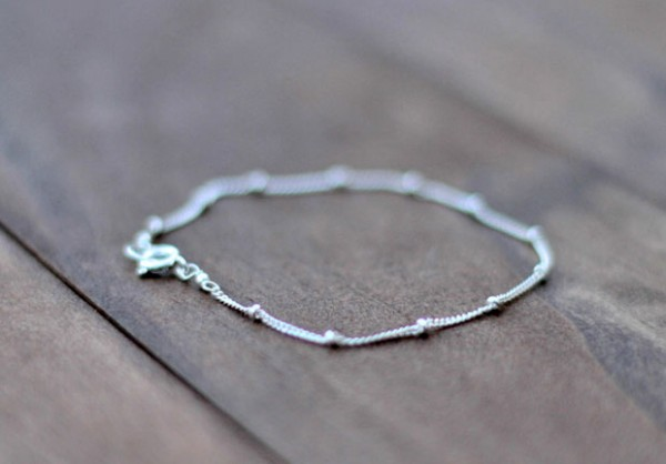 Handmade silver satellite bracelet - unique jewelry gift from Fair Ivy