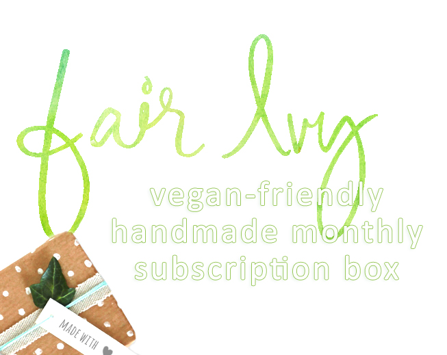 Fair Ivy is now vegan-friendly.  Get handmade monthly surprises in your mailbox with this vegan monthly subscription box