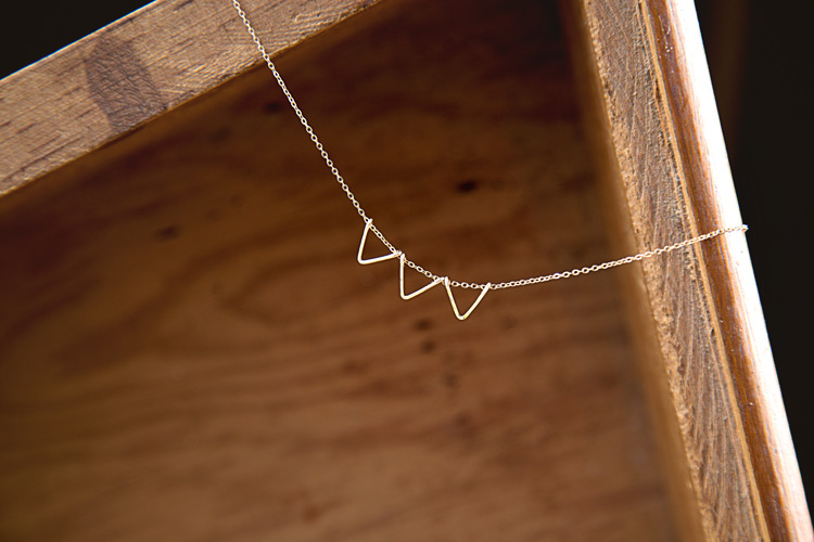 Gold bunting necklace