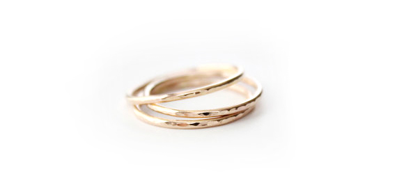 The Value of Handmade : gold handmade rings