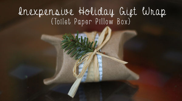 Inexpensive Holiday Gift Wrap (aka Toilet Paper Roll Pillow Box DIY) from the creators of Fair Ivy's monthly boxes for women