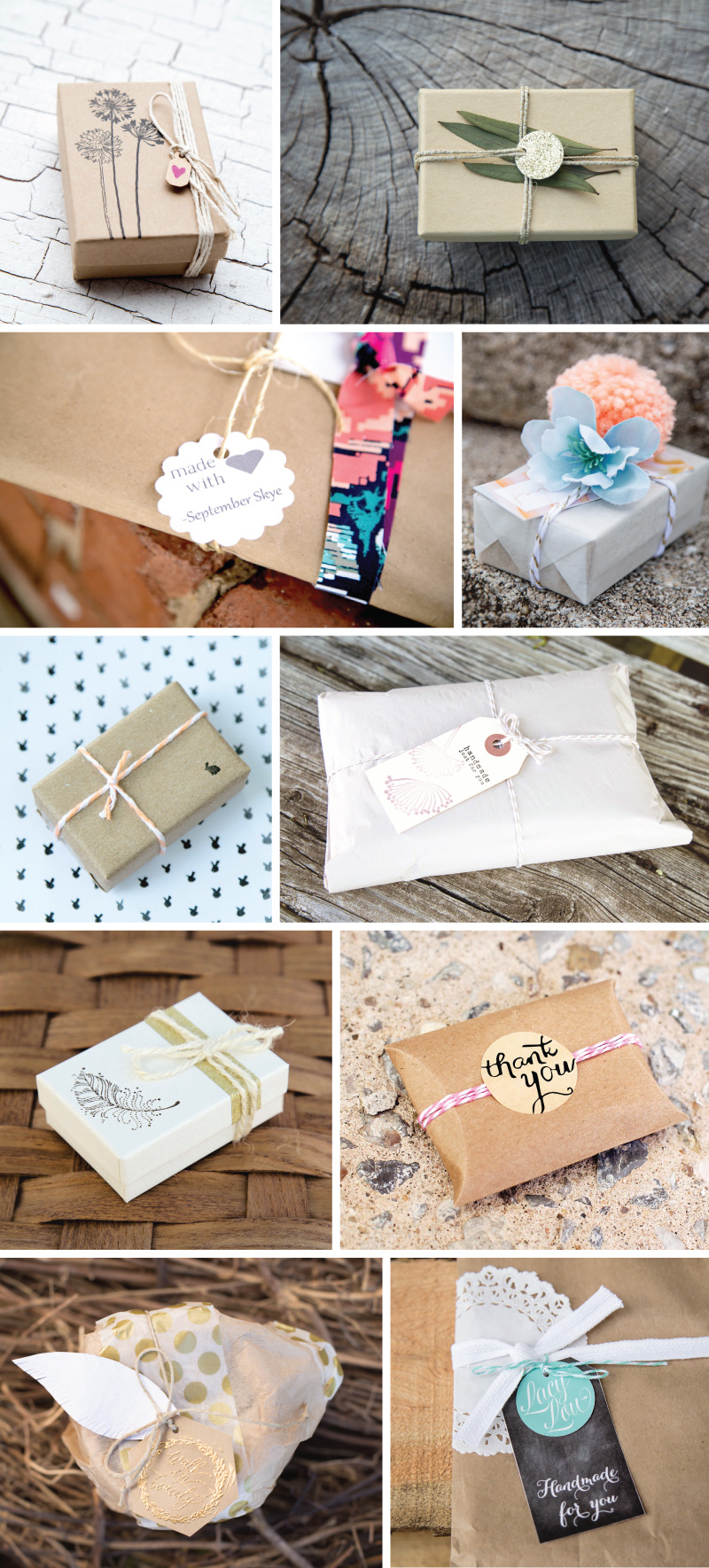 10 Cute Homemade Gift Wrapping Ideas