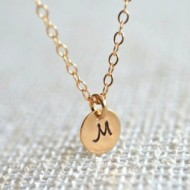 Handmade gold initials necklace | giveaway from Fair ivy monthly gifts for women
