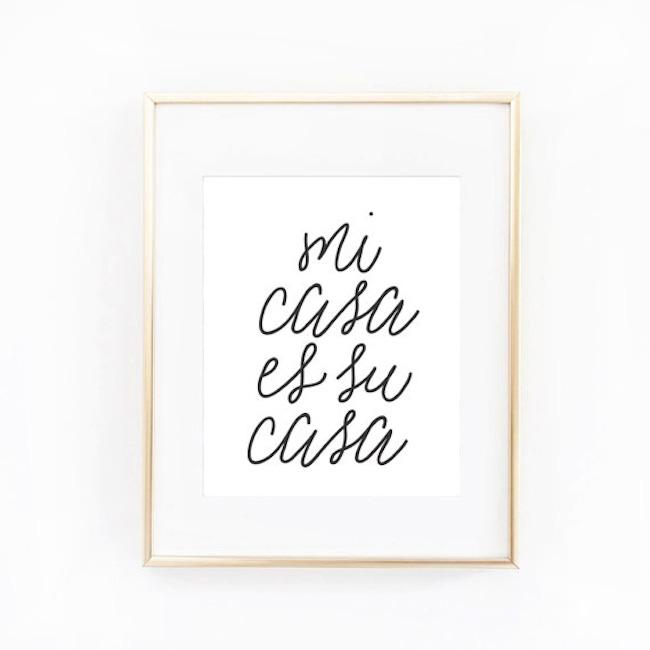 Mi Casa Es Su Casa Handmade Card