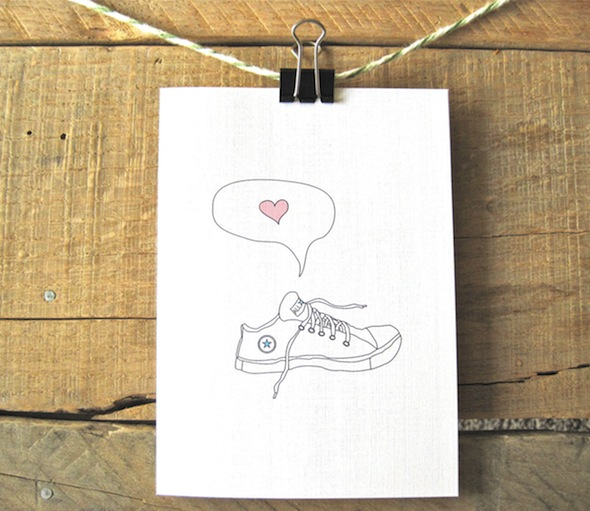 Handmade Stationary - Converse Love