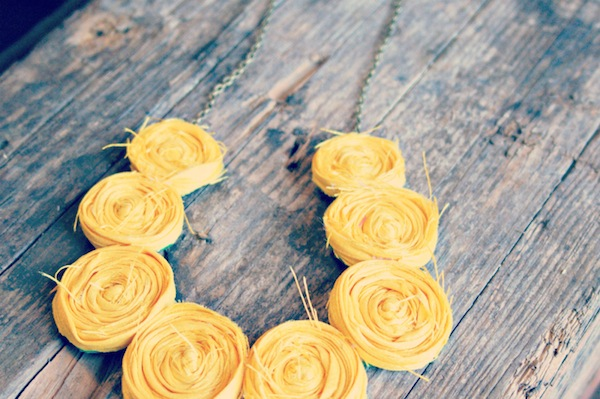 Rolled Rosette statement necklace