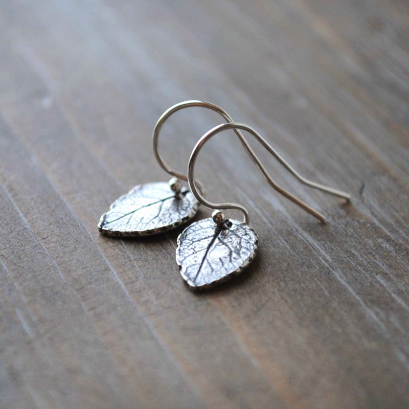 Silver leaf earrings.  One of the monthly gift items from Fair Ivy, also known as: A gift to myself