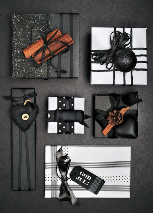 Black White Gift Wrap