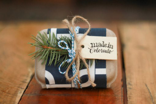 Organic, Creative gift packaging from Fair Ivy's Monthly box for women