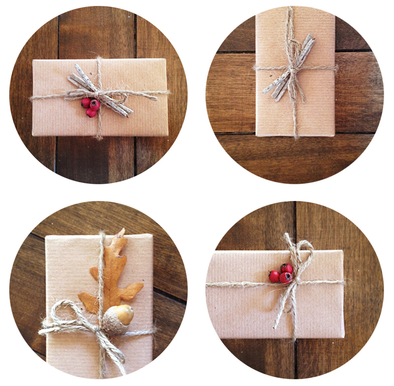 Natural Gift Wrapping DIY