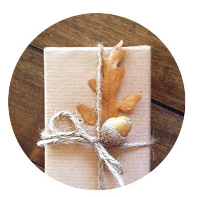 Natural Gift Wrapping DIY