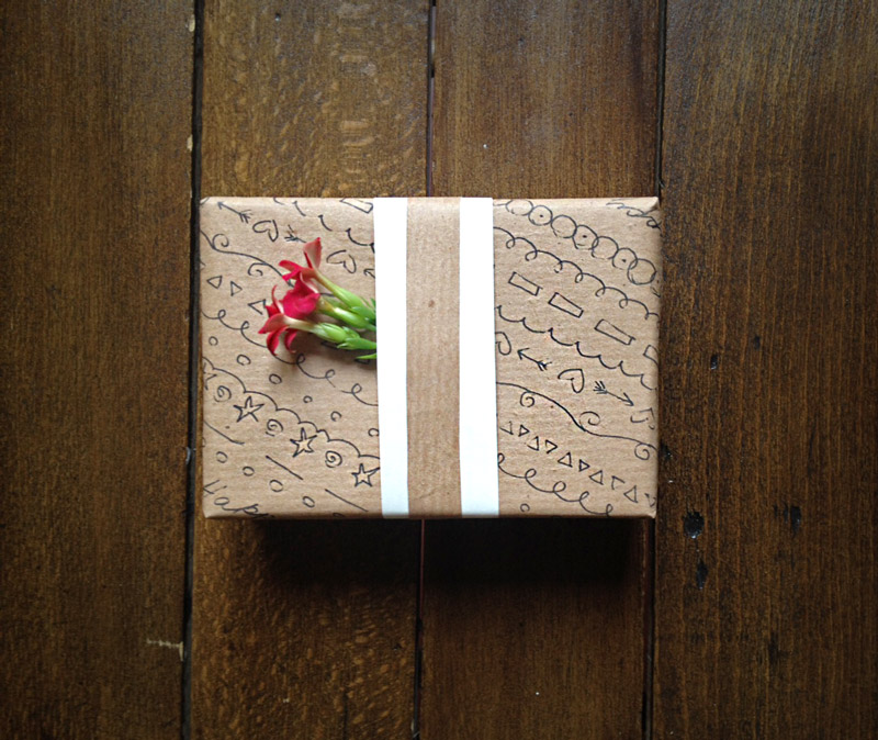 Recycled Gift Wrap - Easy gift wrapping ideas