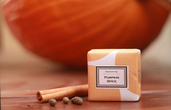 Handmade pumpkin spice latte scented soap