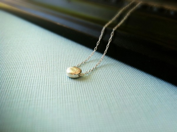 Handmade Silver Dot Necklace