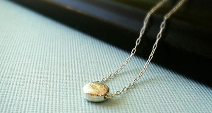 Handmade silver dot necklace - surprise jewelry gift
