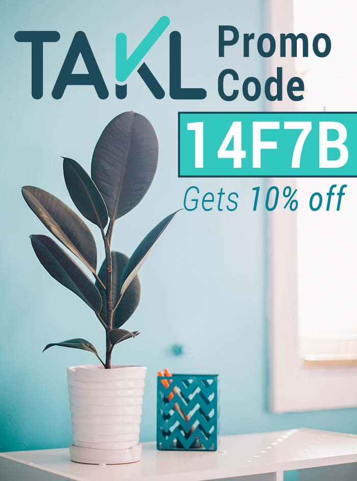 Takl App Promo Code: Get 10% off with the Takl promo code 14F7B