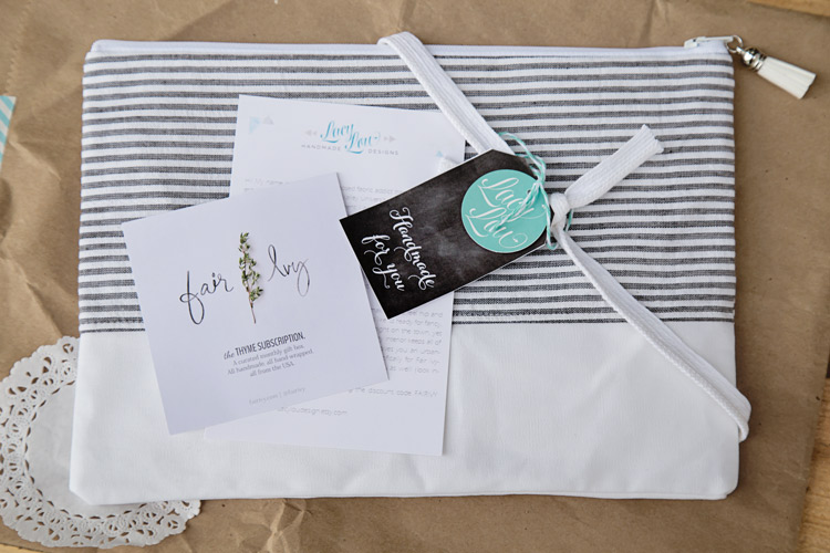 Zippered Clutch purse {The Thyme Subscription}