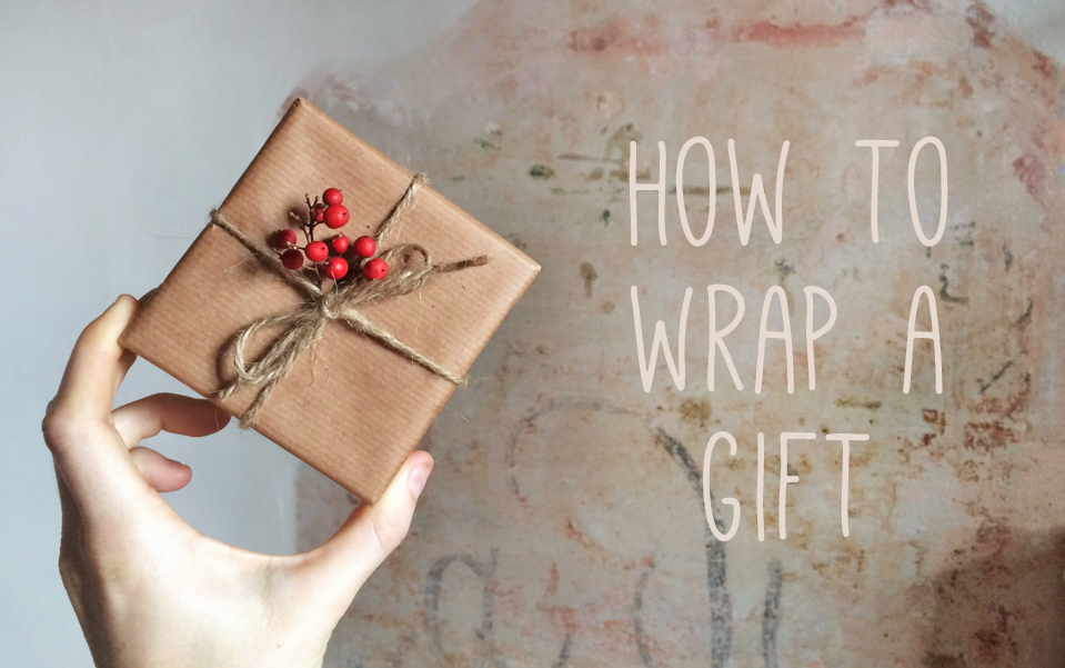 How to wrap a gift: A photo tutorial
